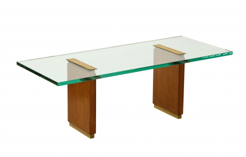 Fontana Arte Low Table with Oak Supports