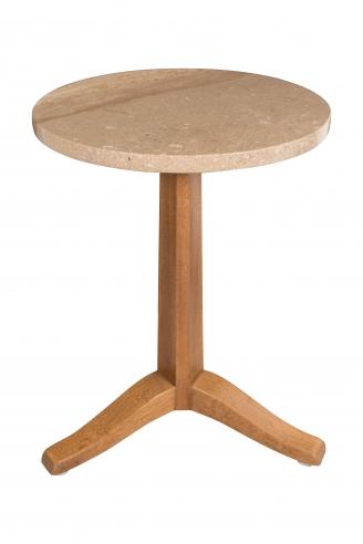 An Ed Wormley for Dunbar Candle Table on Raised Tripod Legs