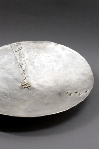 Jean Grisoni Unique Hammered French Solid Silver Bowl