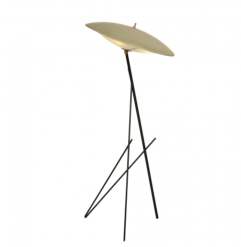 Rare tri-pod floor lamp with large shade
