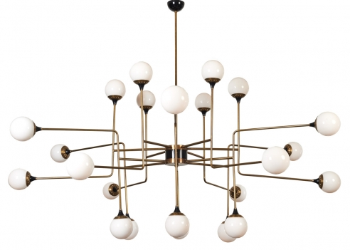 Stilnovo 24 Globe Chandelier