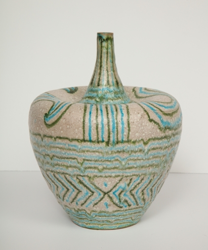 Colorful Ceramic Vessel by Guido Gambone
