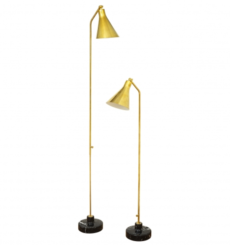 Pair of Brass Floor Lamps by Ignazio Gardella for Azucena