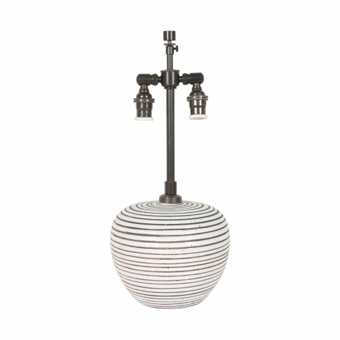 Small Round Primavera Stripe Lamp