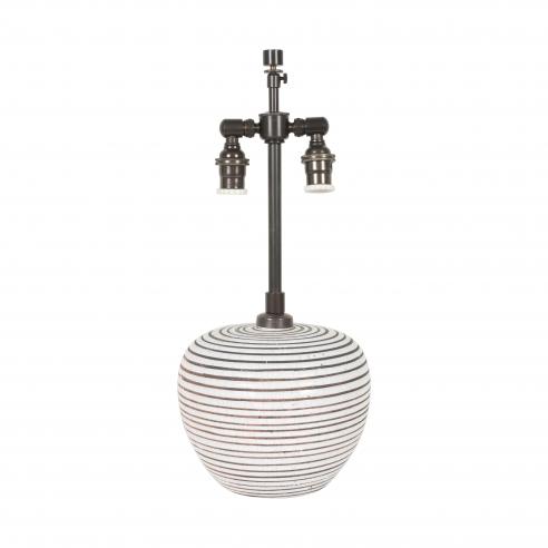 Small Round Primavera Stripe Lamp