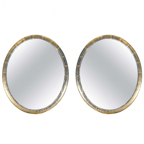 Pair of Oval Mirrors
