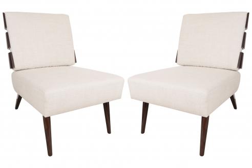 Slat Back Lounge Chairs by Appel Modern