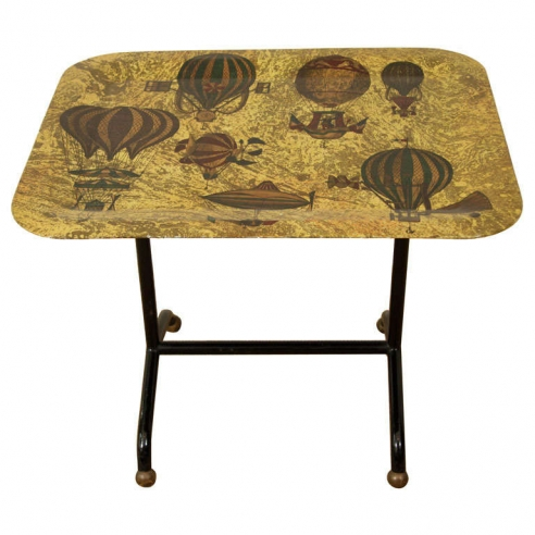 Balloon Folding Table by Gio Ponti and Fornasetti