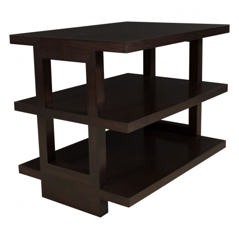 Pair of 1950's Style Three-Tiered End Tables by Appel Modern
