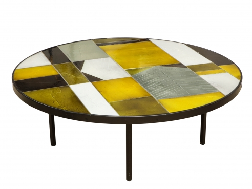 Roger Capron round low table