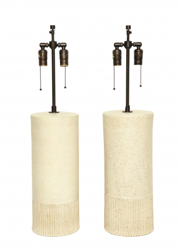 Pair of Monumental Lamps by Bruno Gambone