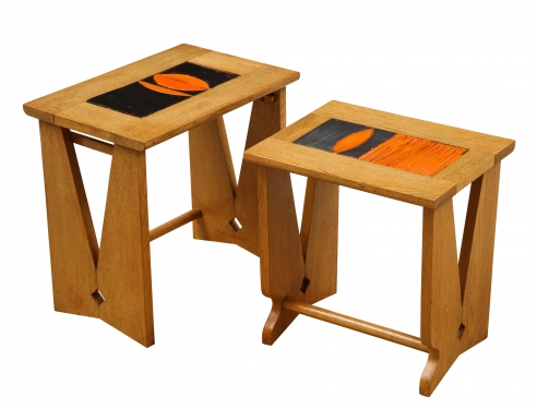 Pair of nesting tables by Guillerme