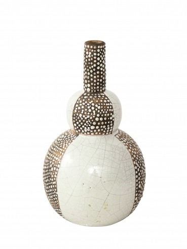 Primavera brown & white segmented vase