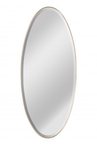 Mid-Century Italian Modern Bevelled Mirror with Brass Frame