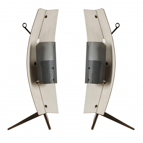 Pair of Gastone Colliva table / wall lamps