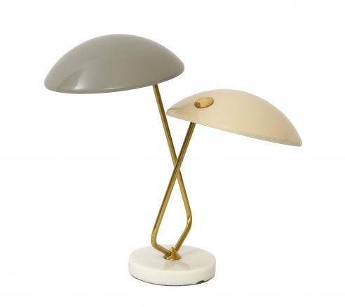 Gino Sarfatti for Stilnovo Table Lamp with Two Shades