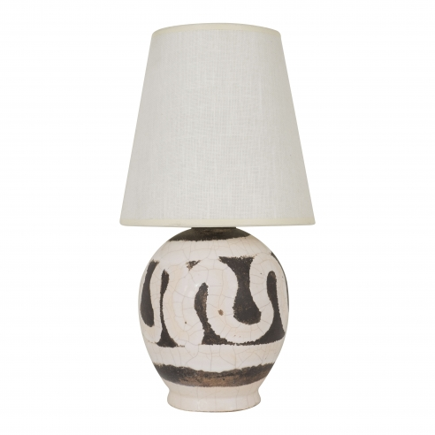 Small Jean Besnard ceramic lamp