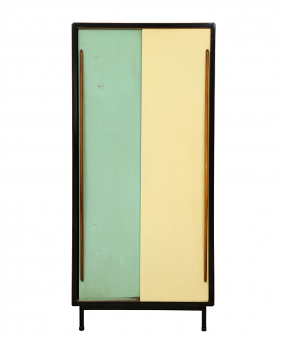 Small Wardrobe with enameled doors by Architect Van der Meeren