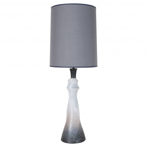 Ceramic Grey & White Sculptural Lamp