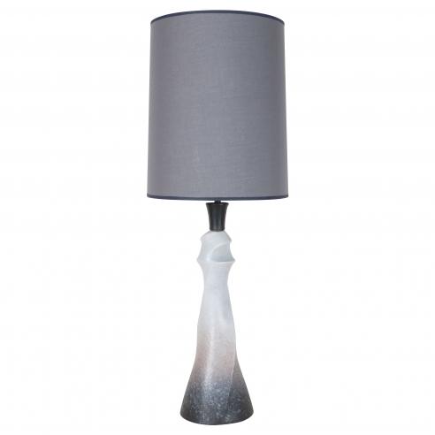 Ceramic Grey & White Sculptural Lamp