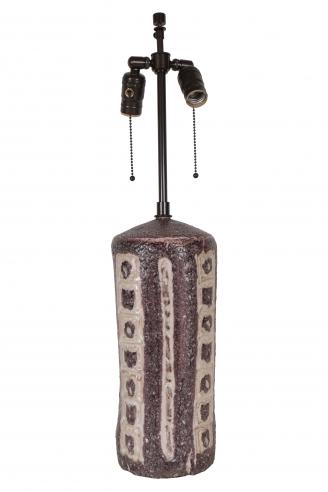 Purple and White Gambone  Lamp