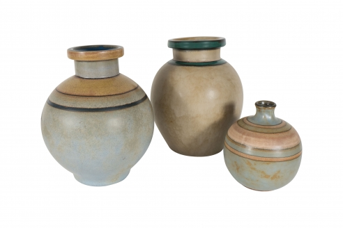 Set of Lourioux Ceramic Vases