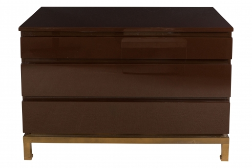 Three Drawer Lacquered Commode by Guy Lefevre for Jansen