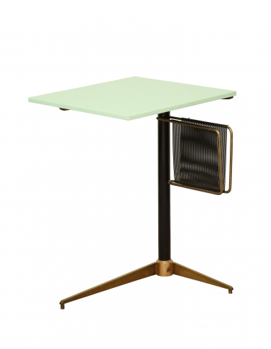 Iron and Glass Magazine Table
