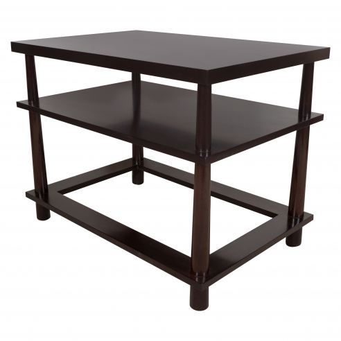 Pair of Three Tiered End Tables with Hole in the Base by Appel Modern