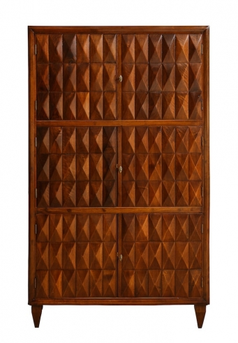 Sculptural wood cabinet attributed to Paolo Buffa