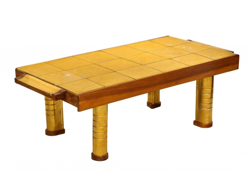 Tile Top Table by Jean Nayadon