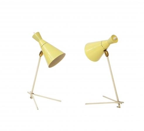 Pair Gilardi & Co Table Lamps/Sconces