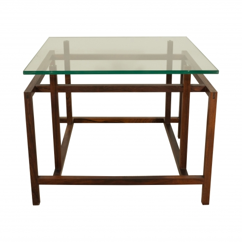 Henning Norgaard Rosewood and Glass Top Table