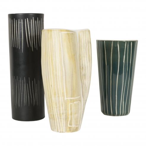 Set of Three Ceramic Vases