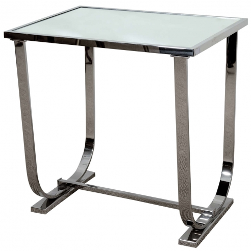 Art Deco Style Chrome and Mirror Table
