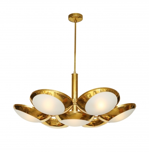 Brass Suspension Light by Stilnova