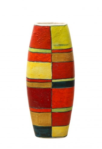 Cylindrical Vase by Guido Gambone
