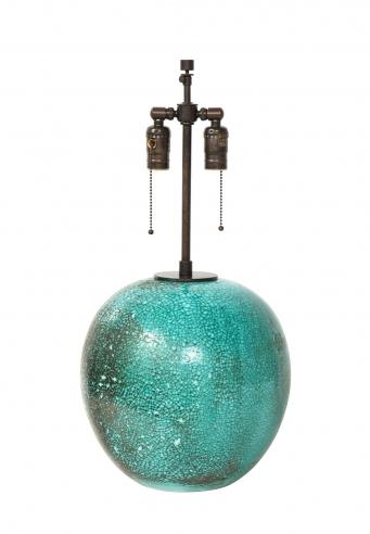 LARGE ROUND PRIMAVERA LAMP, SIGNED