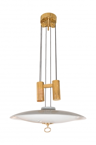 Adjustable Ceiling Fixture by Max Ingrand for Fontana Arte