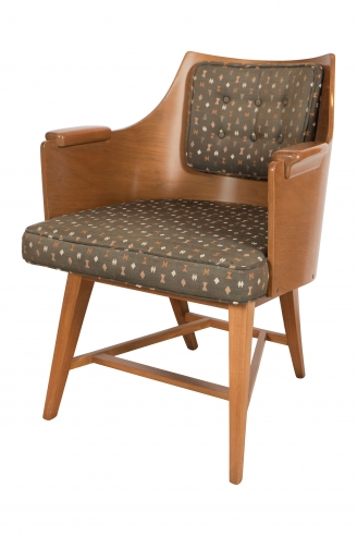 Rare Bentwood Back Chair by Edward Wormley for Dunbar