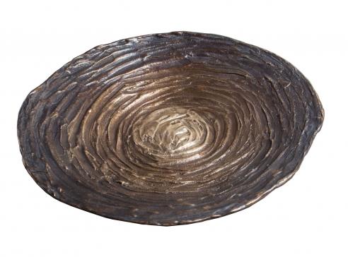 Jean Grisoni Large Bronze 'Aleria' Dish