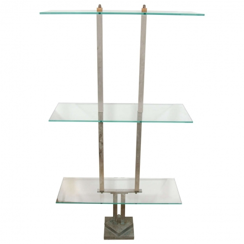 Three-Tier Glass Etagere