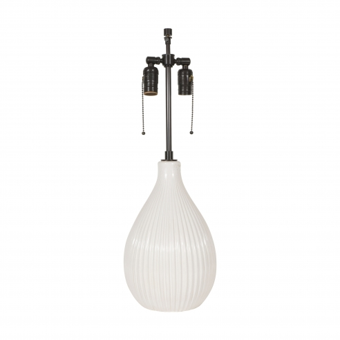 White Ceramic Lamp by Michael Anderson