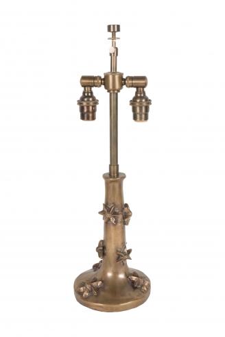 A small bronze Garouste & Bonetti Table Lamp, signed B.G.