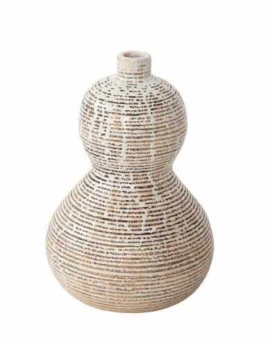 Primavera gourd shape vase with horizontal lines