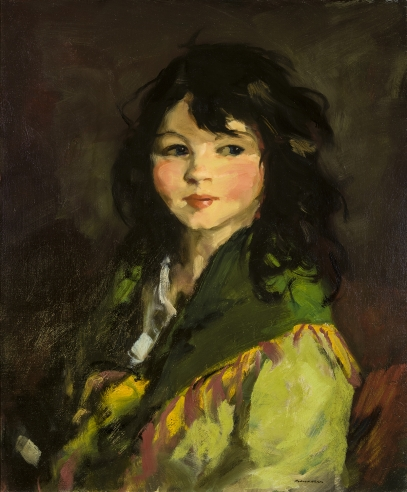 "Image of Robert Henri's ""Francine"", oil on canvas, 20 x 24 inches, painted in 1921."