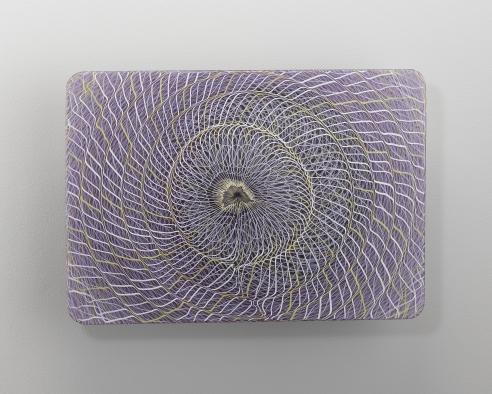 Extroverre Purple, Black, and White Wall Piece
