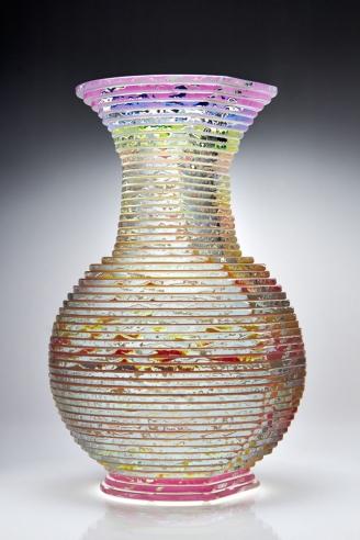 'Ridgeback' Middy Solid Vase Form #17