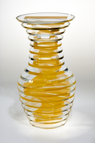 Middy Polished Plate Glass Vase #14