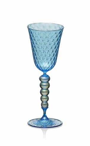 Copper Blue Goblet